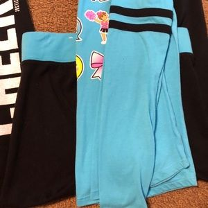 Justice Matching Sets - Justice emoji top and leggings sz 12-14